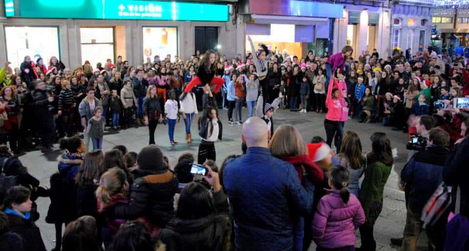 Flashmob de Ángel en Vigo
