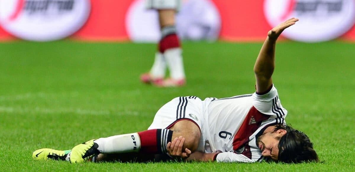 lesión de rodilla de Khedira