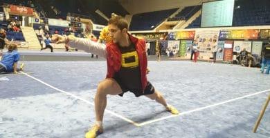 Dan Río practicando Wu Shu