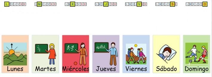 Agenda visual para alumno con autismo