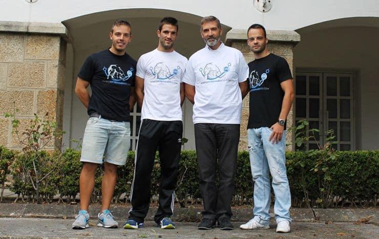 Vicente Gambau junto a miembros de Mundo Entrenamiento