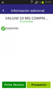 Información valium comprimidos