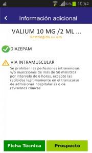 Informacion valium comprimidos inyectable