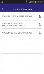 Opciones Valium