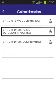 Seleccion valium comprimidos