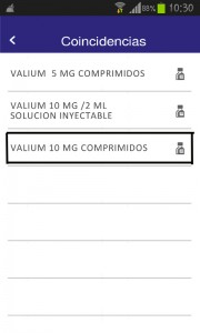 Seleccion valium comprimidos inyectable