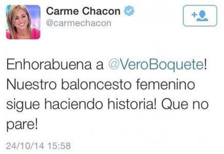 Tweet a Verónica Boquete