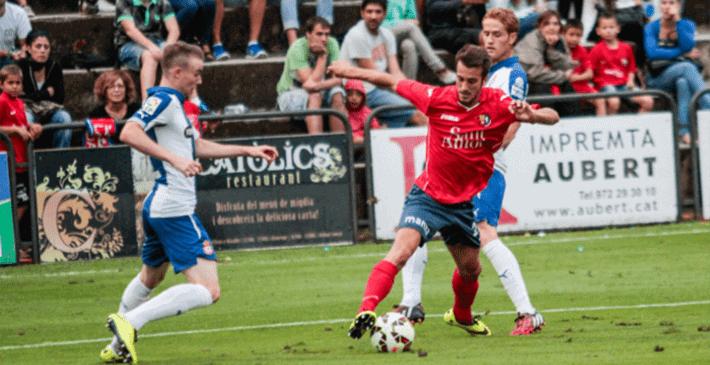 Abducción de cadera en un jugador de fútbol