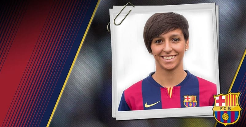 Marta Corredera cromo del F.C. Barcelona