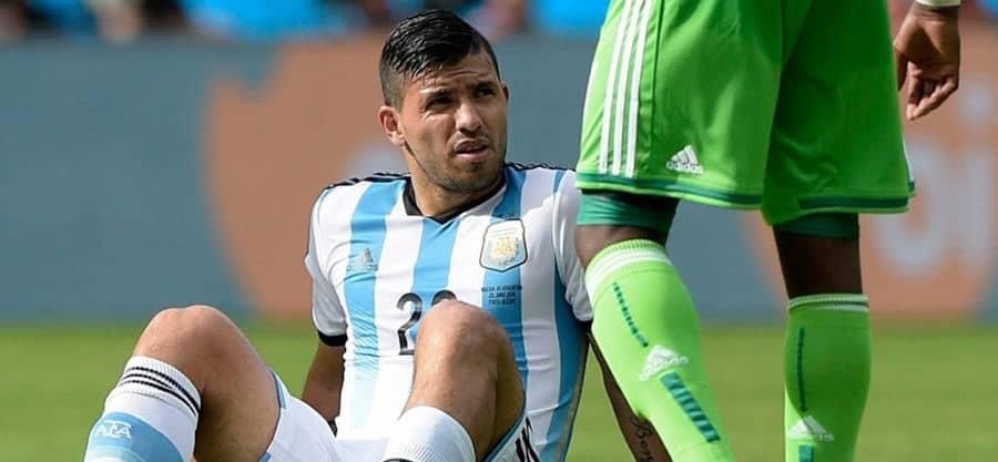 Agüero con la selección argentina