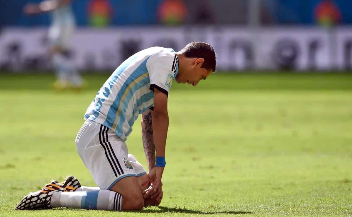 Di María con la selección argentina
