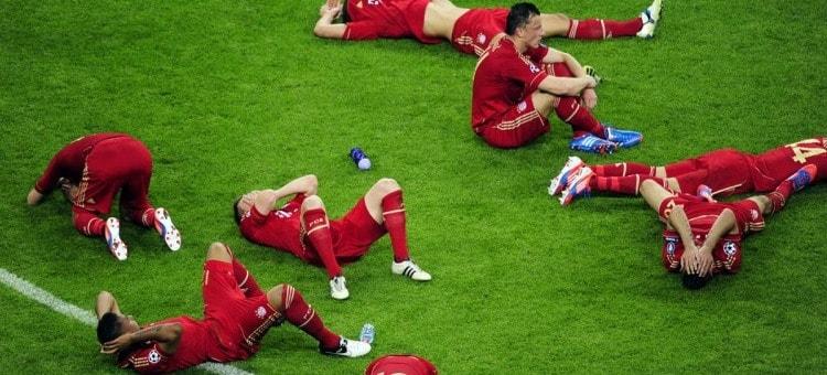 Foto del bayern de munich tras perder una final