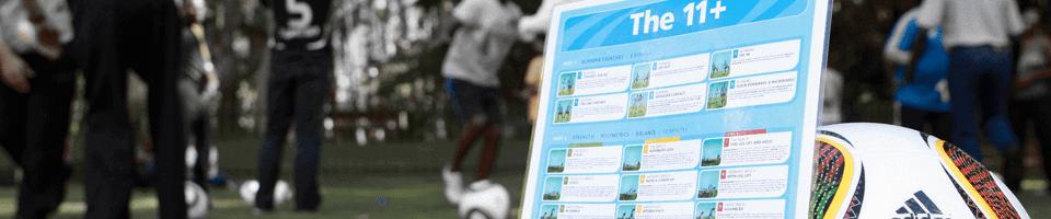 11 de la FIFA calentamiento preventivo