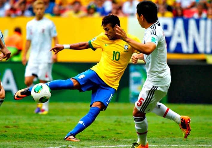 Neymar en la Confederaciones