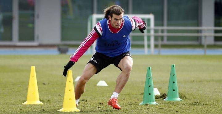 Gareth Bale entrenado