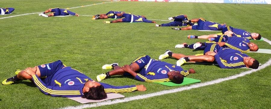 estiramientos de la selección colombiana