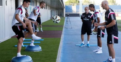 Entrenamiento propiocetivo del Real Madrid