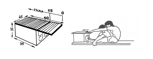 Flexión desde sentado