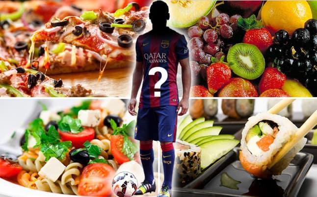 la alimentacion de un jugador de futbol