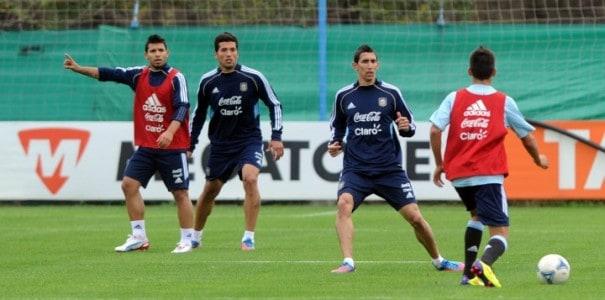 Entrenamiento de la selección argentina de fútbol
