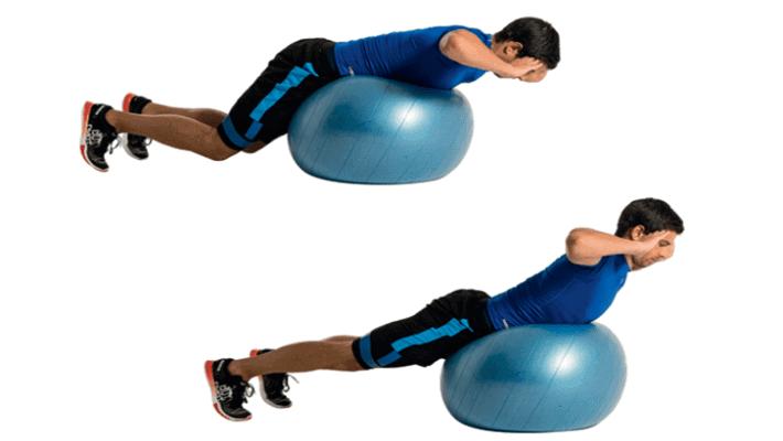 Back extensión sobre fitball