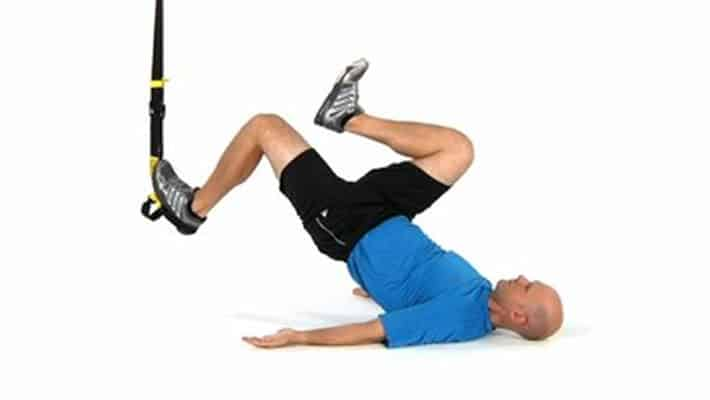 Hip thrust en TRX a una pierna
