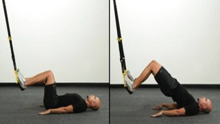 Hip thrust en TRX