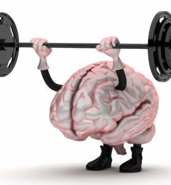 Encéfalo haciendo pesas