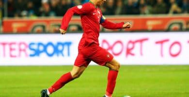 Cristiano Ronaldo en un sprint