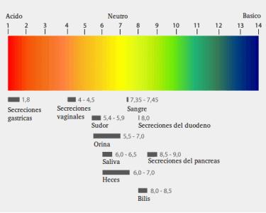 pH líquidos corporales