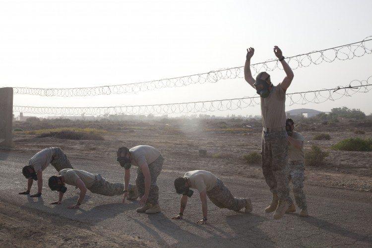 Soldados de EEUU realizando burpee