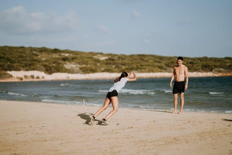 entrenaniento en playa