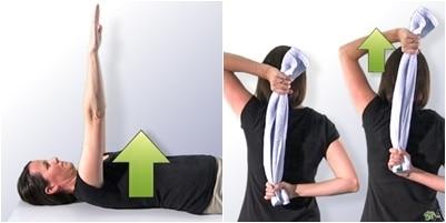 Alcance del brazo y estiramiento posterior del hombro