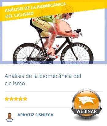 Webinar sobre análisis biomecánica de ciclismo