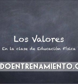 Educar en valores en Educación Física