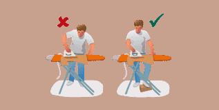 postura para planchar