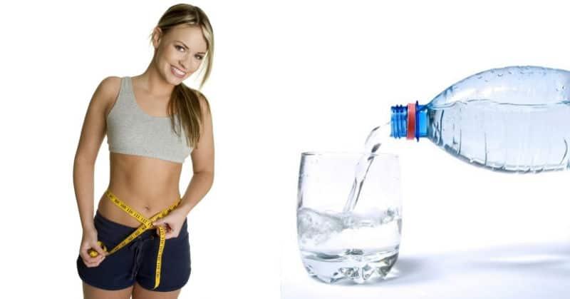 agua para bajar de peso