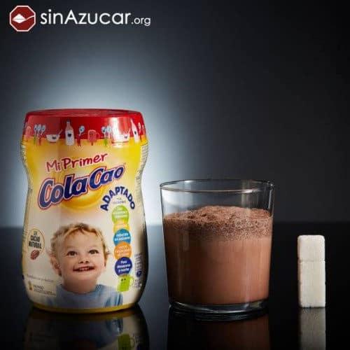 Cantidad de azúcar colacao