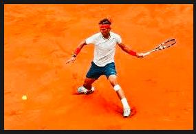 gesto deportivo de Rafa Nadal