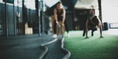 entrenamiento con cuerda de batalla