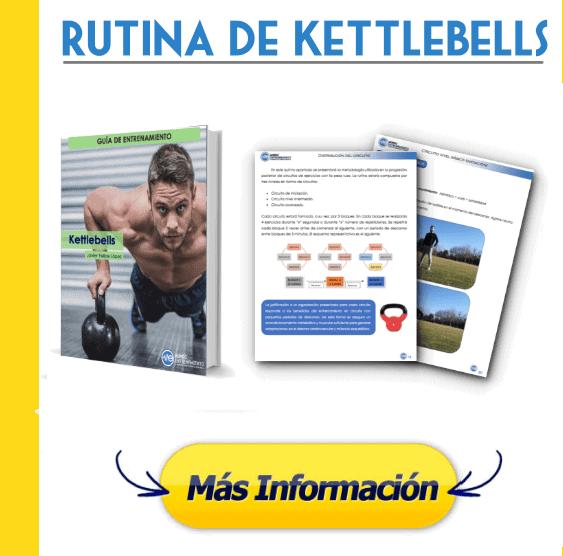 Rutina con Kettlebells