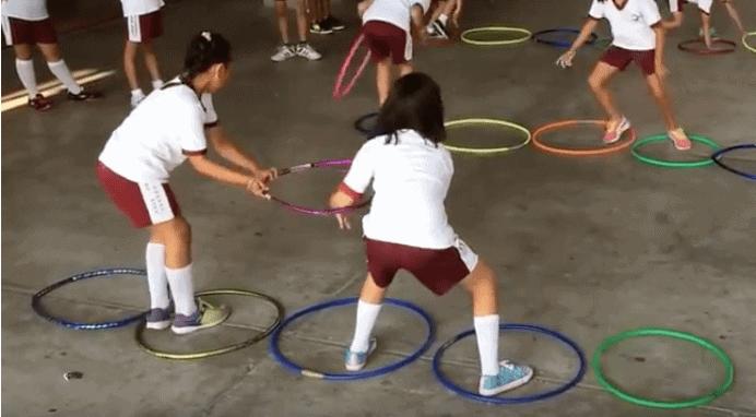imagen 10 aros en educación física
