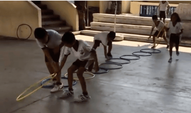 imagen 11 aros en educación física