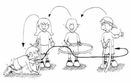 imagen 6 aros en educación física