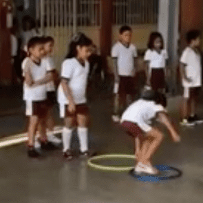 imagen 8 aros en educación física