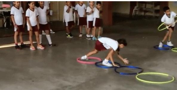 imagen 9 aros en educación física