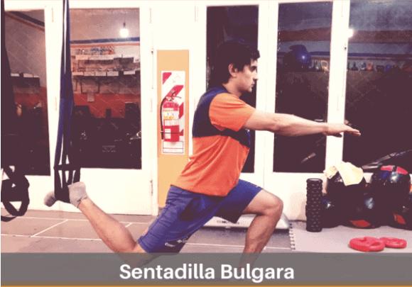 Sentadilla bilateral asimétrica búlgara