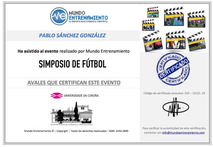 certificado futbol