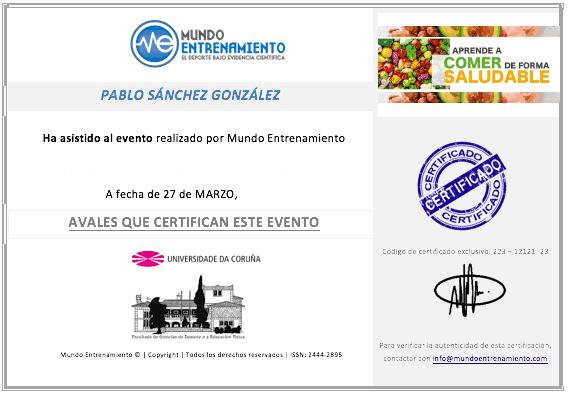 certificado curso comida real