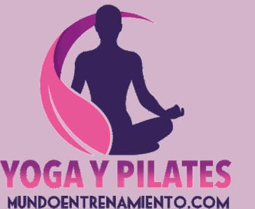 Logo yoga y pilates online de mundo entrenamiento